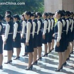 supermarket-staff-at-attention-flag-raising-ceremony-china