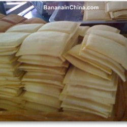 Tofu – sliced, stacked and stripped