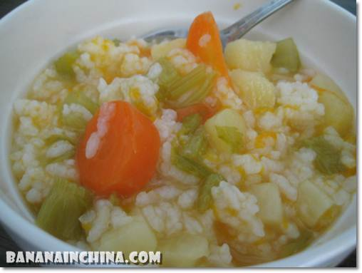 Carrot-potato-celery-porridge-for-toddler