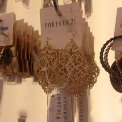Necklaces and earrings at Forever 21
